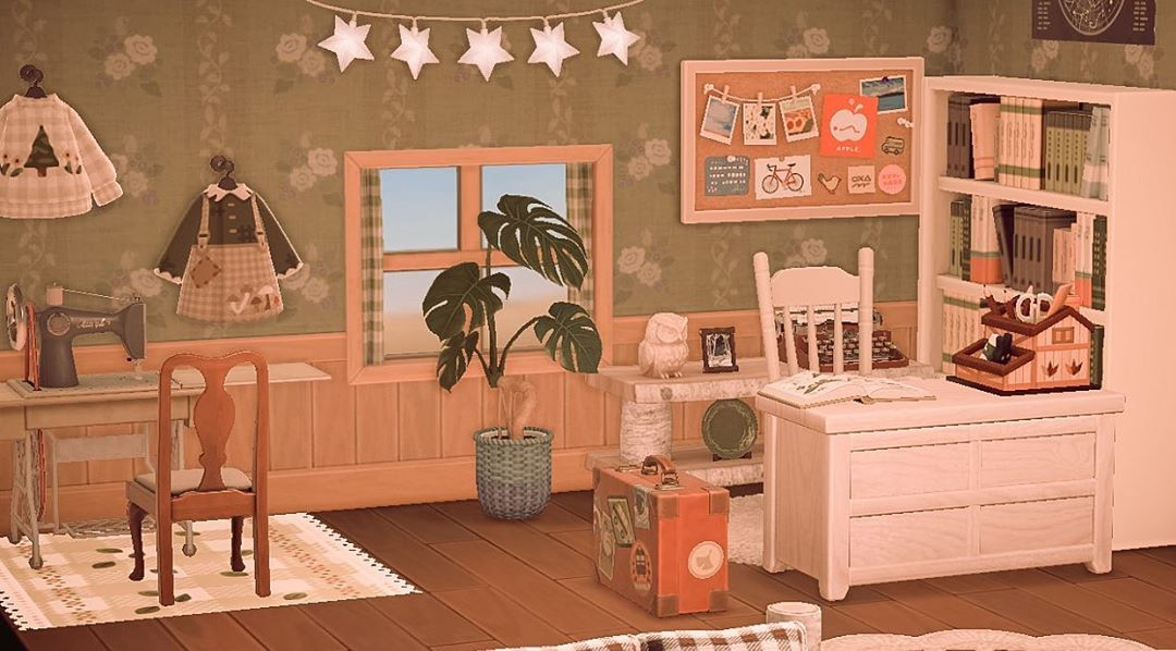 660 Likes 16 Comments 𝐂𝐂 Acnh Cc On Instagram More Bedroom Pics Using New Animal Crossing Game Animal Crossing New Animal Crossing