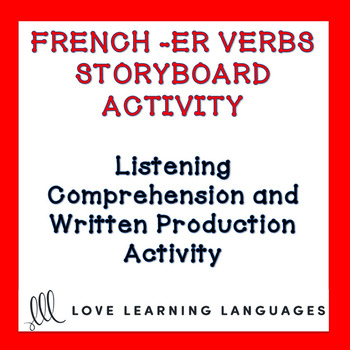 this is a listening comprehension activity focusing on regular er verbs in the present tense and is meant to be used with beginner french students