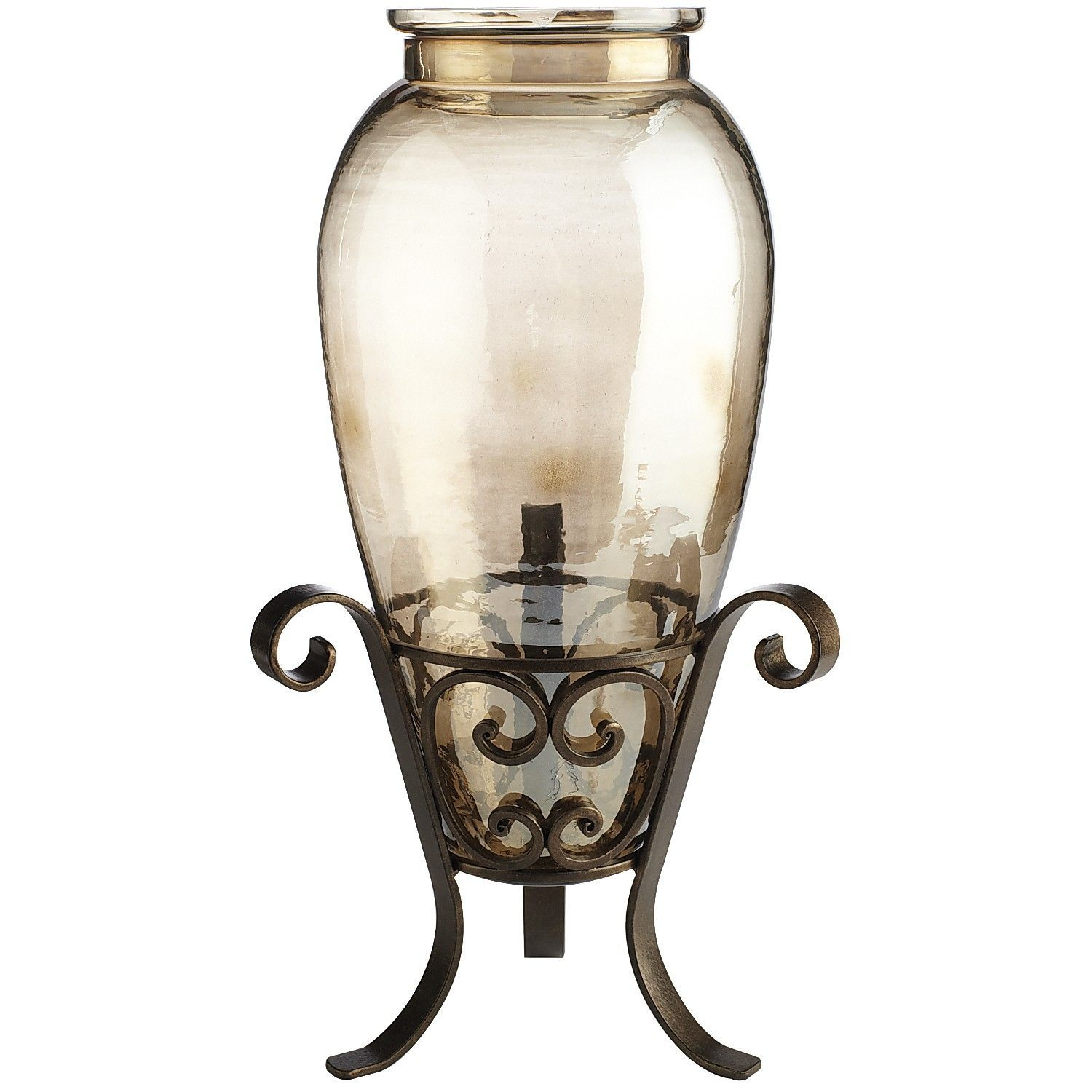 Glass Luster with Iron Stand Vase (Order 2) Large vase, Vase