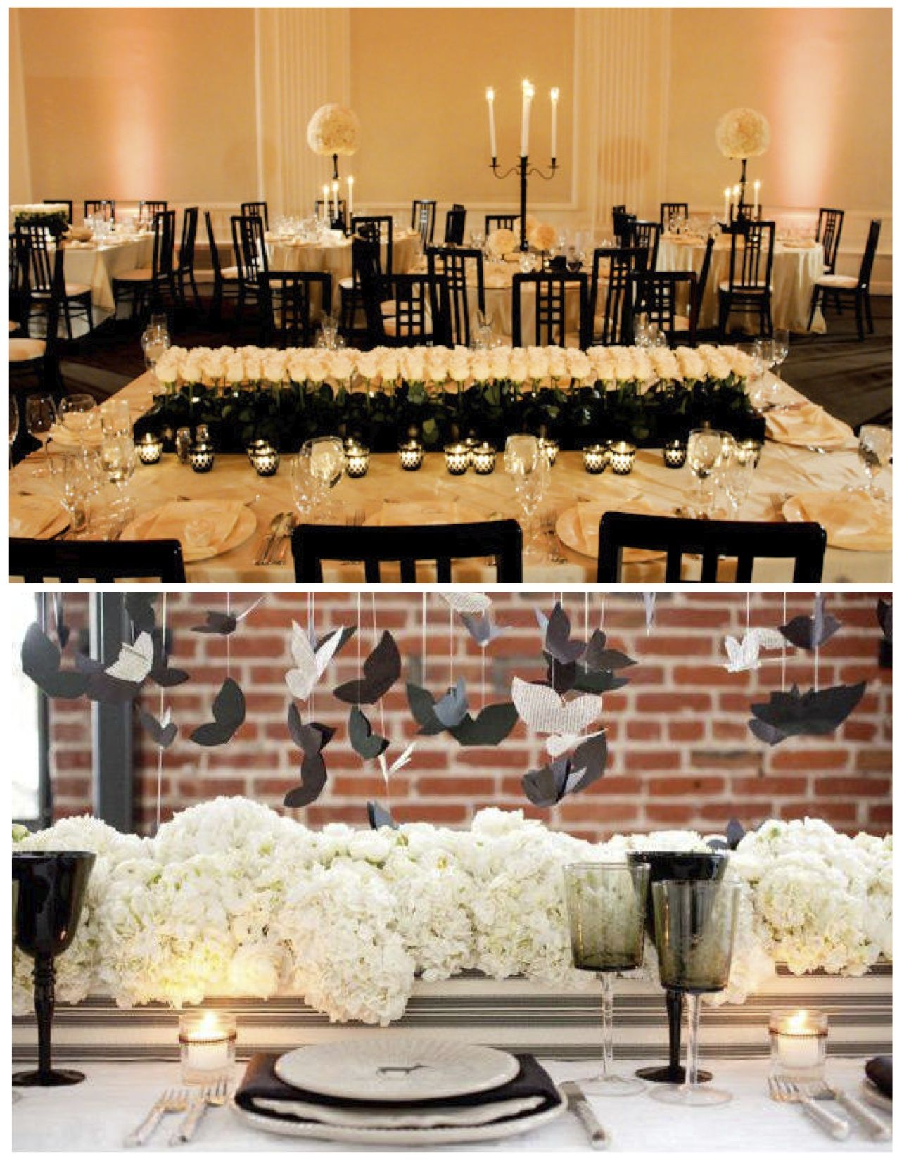 Black and white tablescape party ideas pinterest boda for Black and white tablescape ideas