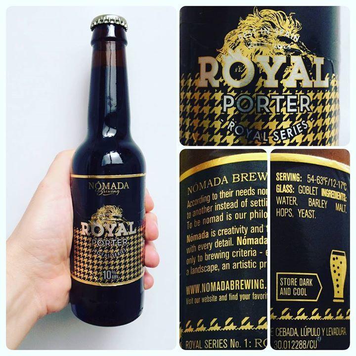 La Cerveza del Viernes: Nómada Royal Porter by @nomadabrew. Sabor muy logrado a chocolate puro con nota de cafe en retogusto. #stoutDay #ISD16Spain