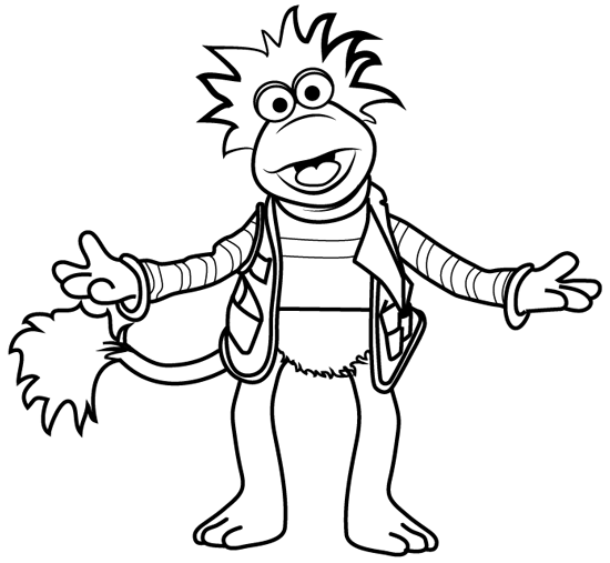 Fraggle Rock Coloring Pages Muppet Central Forum Crafts With The