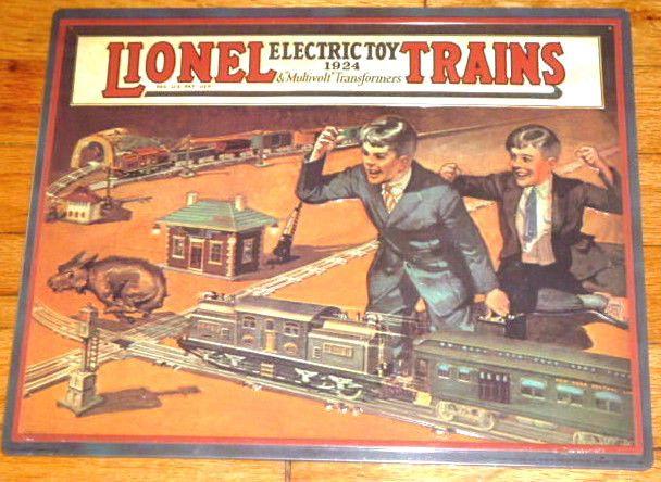 NEW Hallmark Lionel TrainTin Sign 1924 Catalog Cover of Great American Railway #HallmarkLionel