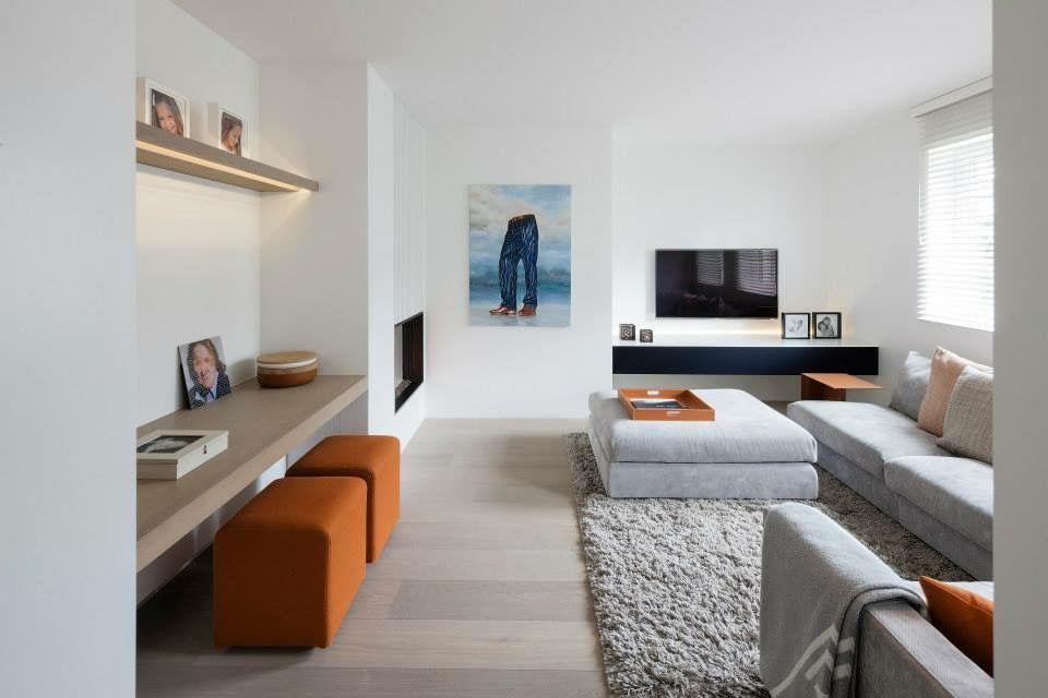 D interieur be color love burned orange living room interior