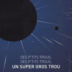 Affiche sur l'astronomie. Espace.  Flat design.   http://www.grapheine.com/affiches/astronomie-affiches
