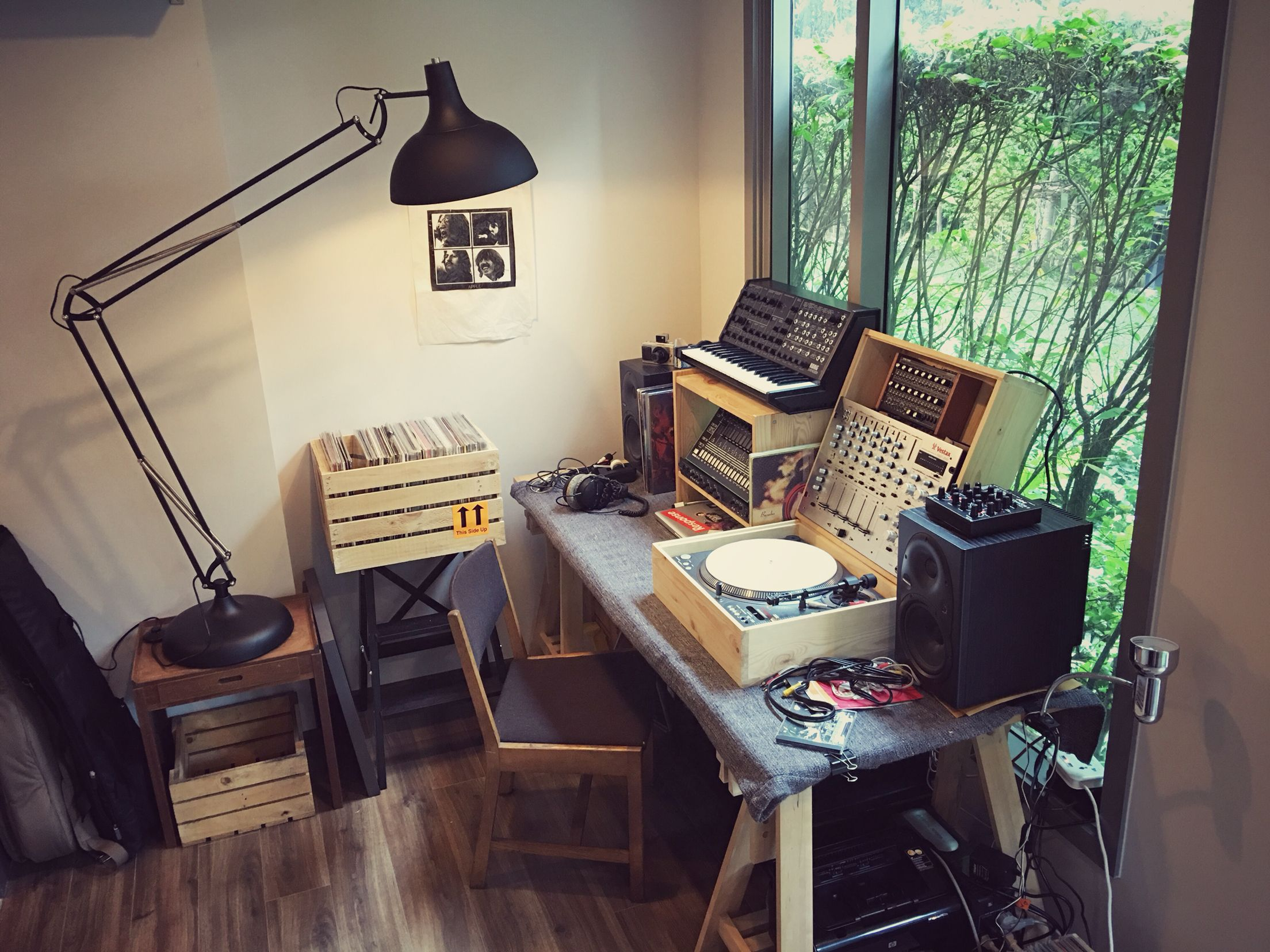 Temporary Work Space Making Music Home Studio Music Studio