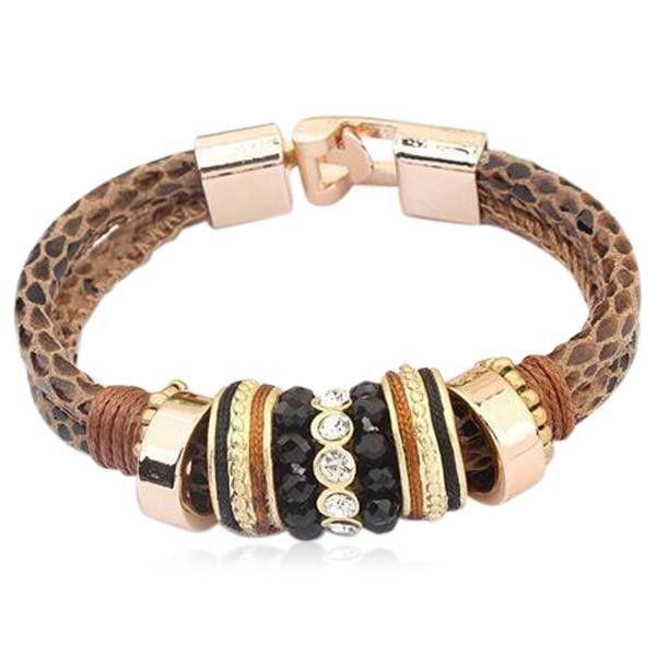 Delfina - Leather Wrap Bracelet Bangle