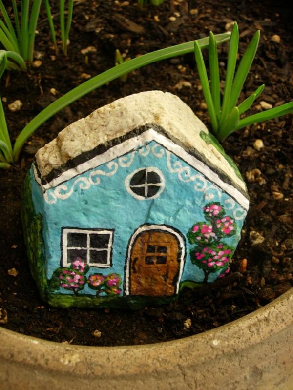 Bemalte Gartensteine als Dekoration! - Archzine.net