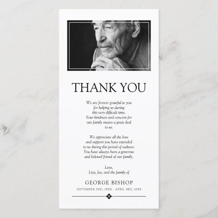 Minimalist Photo | Sympathy Thank You