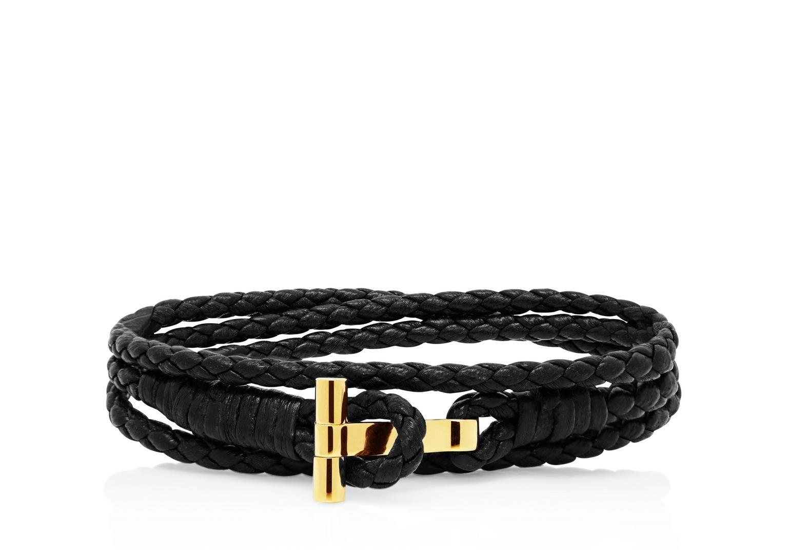6717f21fdb385 Gold Braided Wrap T Bracelet | Shop Tom Ford Online Store | Wishlist ...