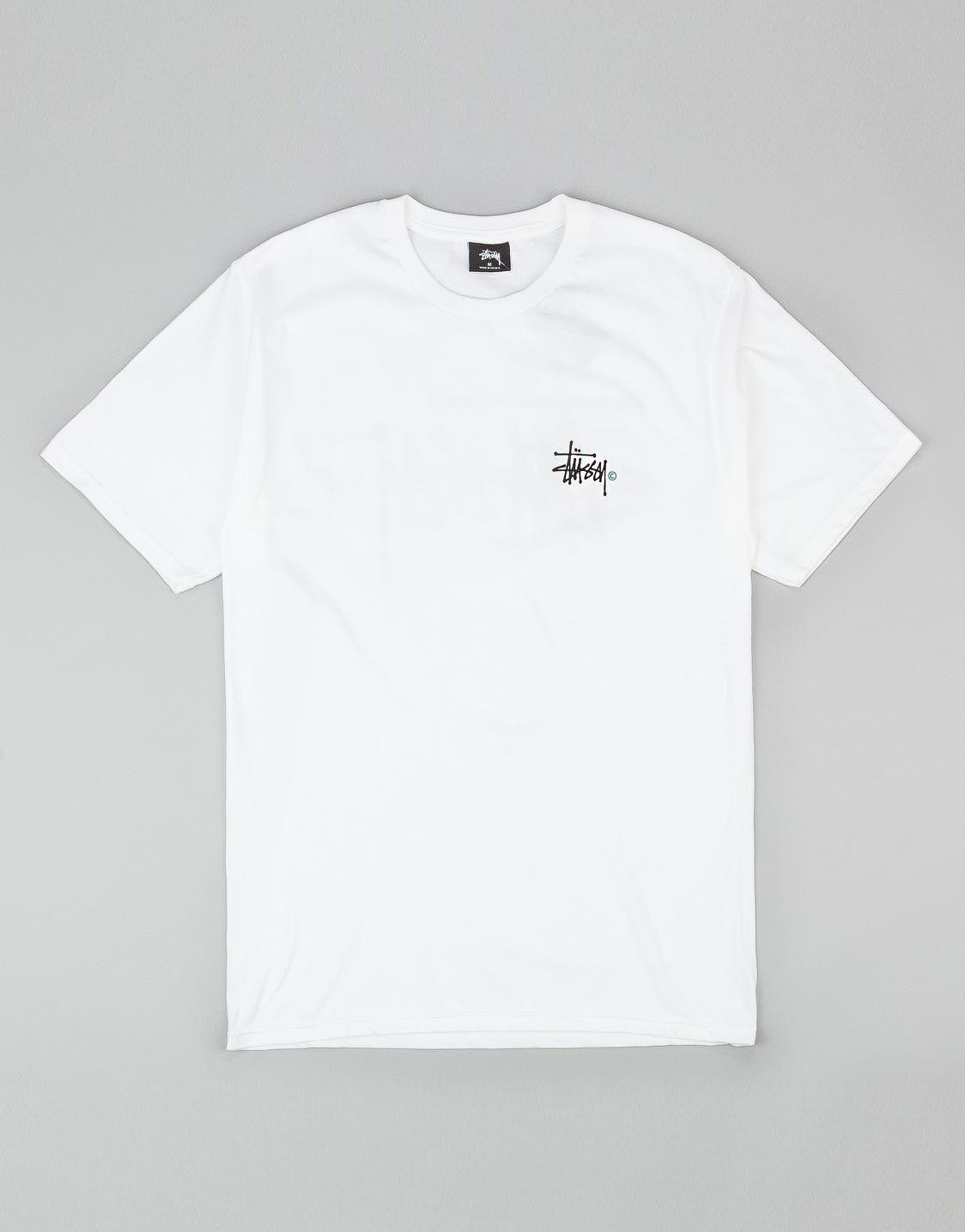 2a194caa Stussy Basic logo t-shirt white | Fashion // | Stussy, T shirt, Shirts