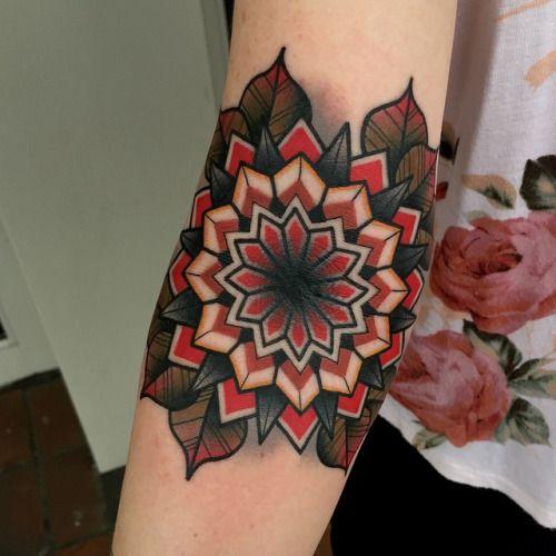 Inner Elbow Mandala Tattoo: Elbow Tattoos, Traditional Mandala