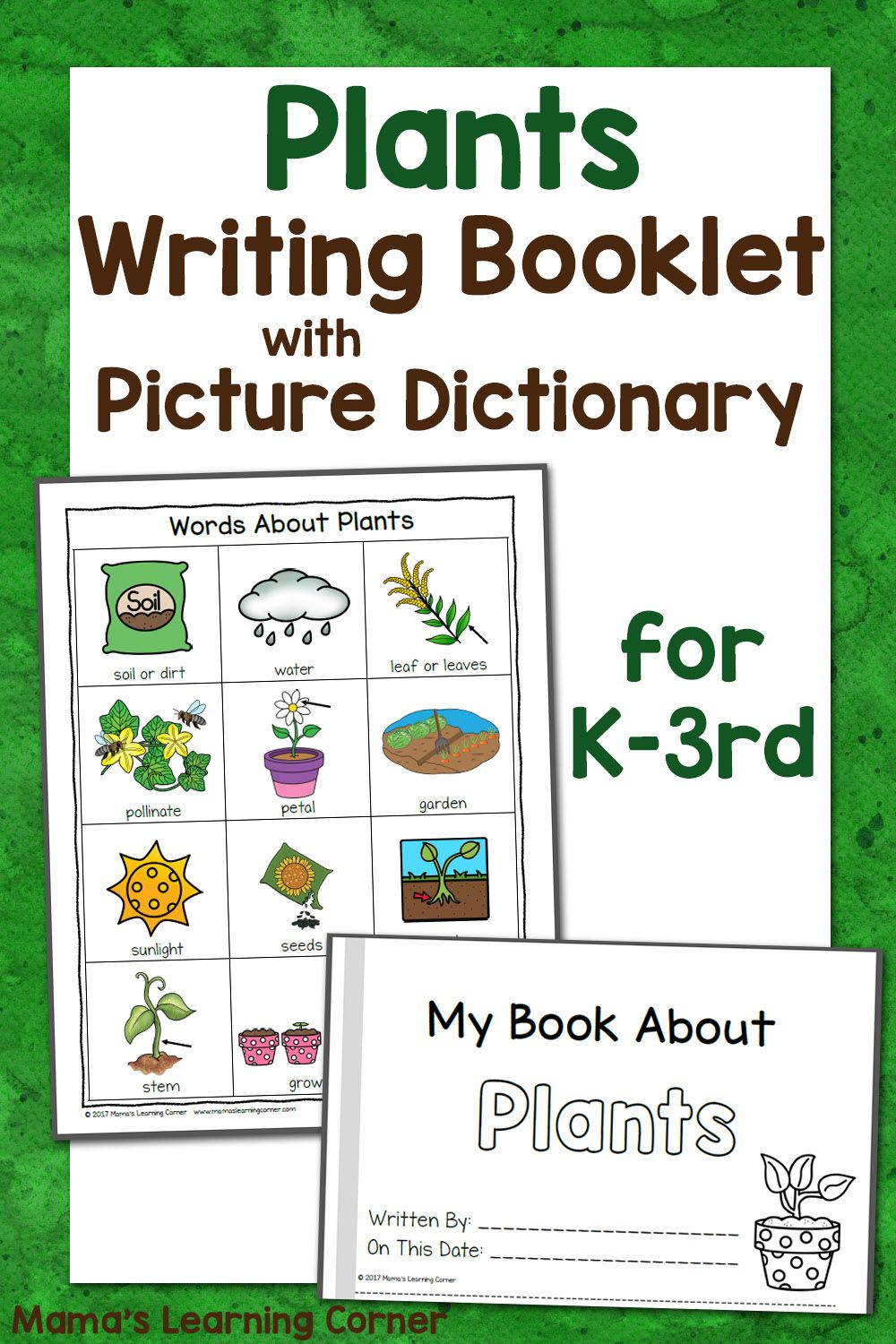 Plants Writing Booklet With Picture Dictionary Dictionary For Kids Picture Dictionary First Grade Science [ 1500 x 1000 Pixel ]