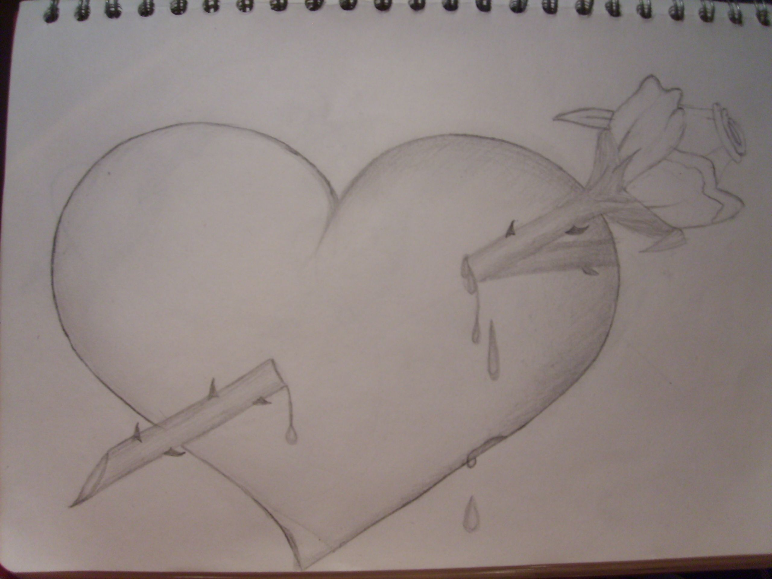 Images For > Hearts And Roses And Stars Drawings