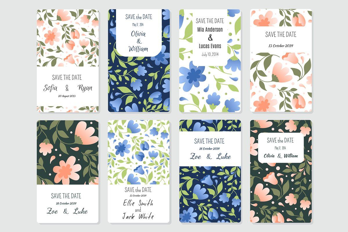 144 Save tha Date templates in 2020 Blank card template