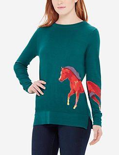 Horse Intarsia Sweater
