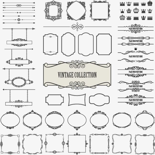 Border Design Pattern Vector Material Pattern Pattern Border Decorative Elements Png Transparent Clipart Image And Psd File For Free Download Vintage Frames Frame Set Vector Free