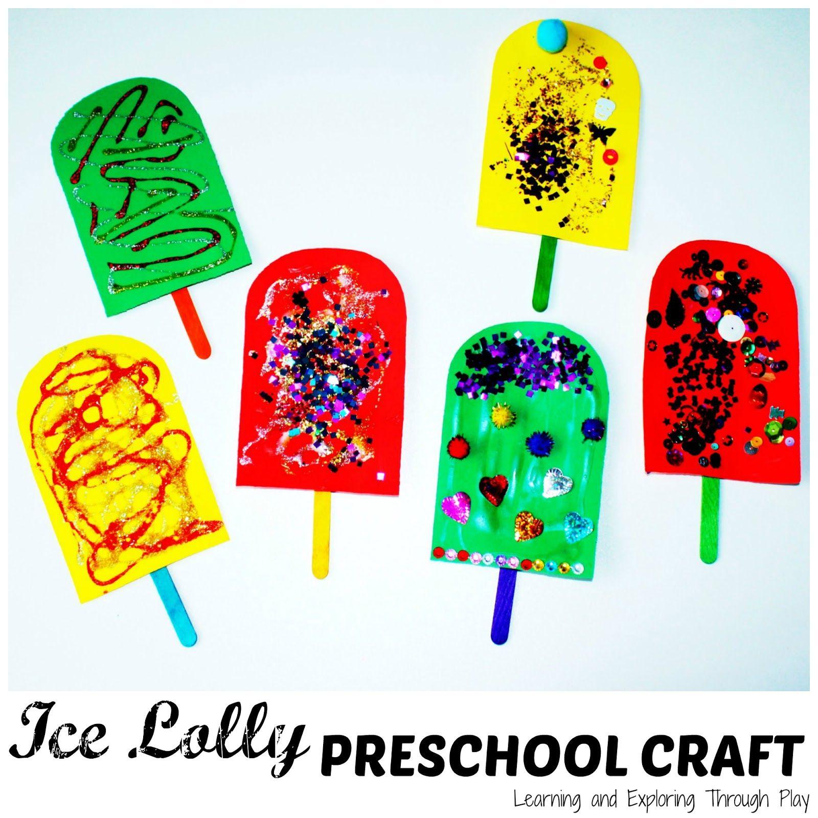 Ice Lolly Preschool Craft