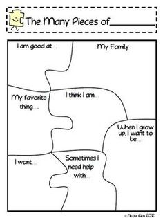 Good Worksheet To Use For Self Exploration In Kids  Social