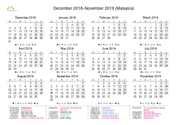printable calendar 2018 for malaysia pdf
