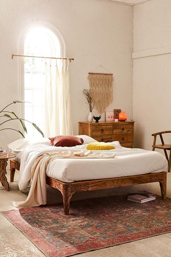 Andrea Carved Nightstand Bedroom Diy Platform Bed