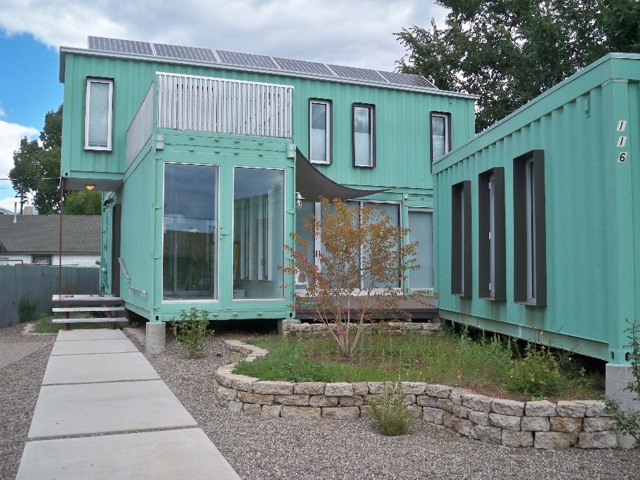 Shipping containers modified residence sustainable repurposed flagstaff arizona home house can - Container homes arizona ...