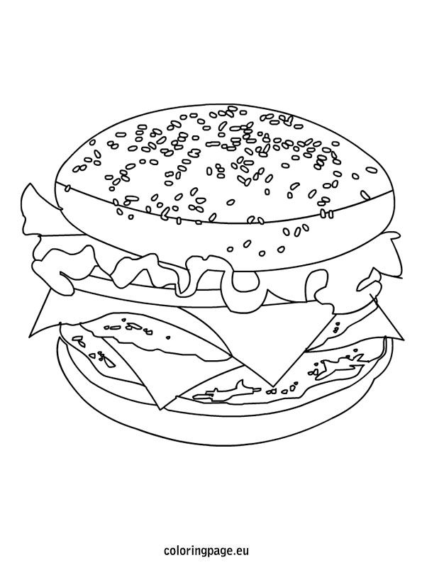 Cheeseburger Coloring Page Super Coloring Pages Coloring Pages