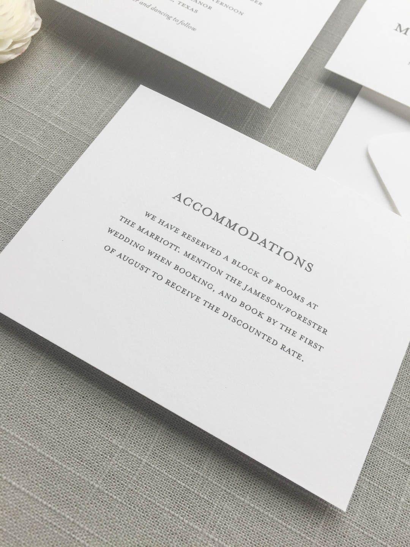 Detail Card Wording Map wedding invitation, Custom