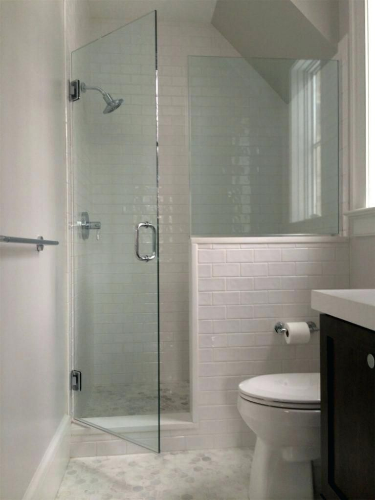 image result for half wall shower glass doors  diseño