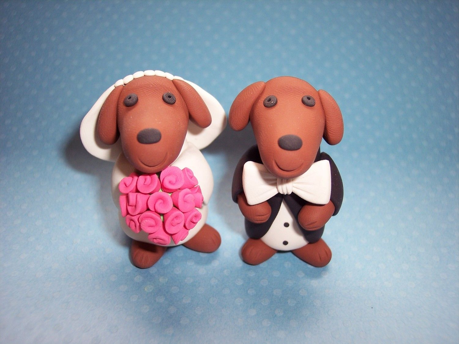 Daschund wedding cake toppers source nyimagesy penny