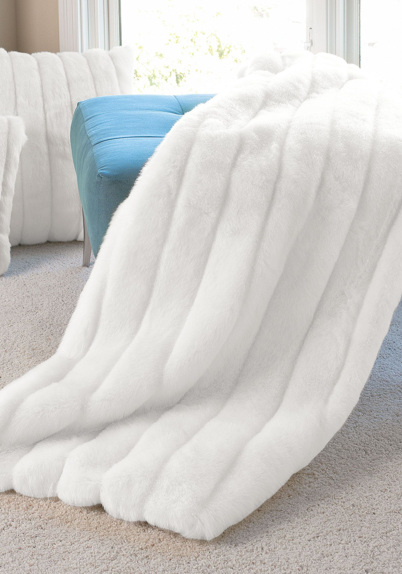 White Mink Signature Series Faux Fur Throws Fabulous Furs