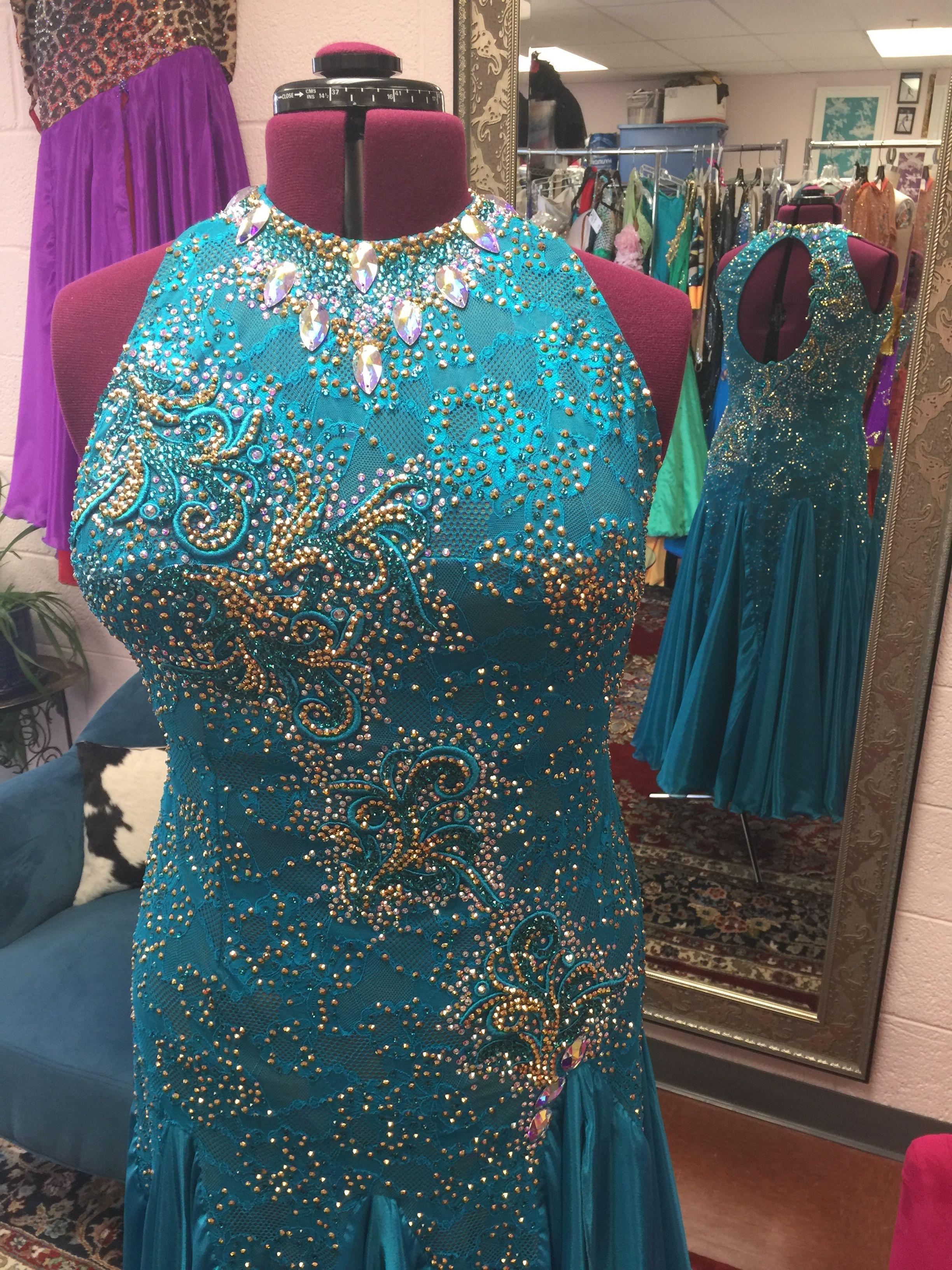 a236f0e14 Blue Zircon American Smooth Ballroom Dress | Smooth/Ballroom Dresses