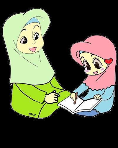 Animasi Ibu Dan Anak : animasi, Gambar, Kartun, Untuk, Bunga, Freebies, Doodle, Perempuan, Download, Kartun,, Hijab,