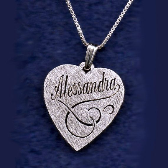 Hand made custom made heart pendant sterling silver gold by egold1, $59.00