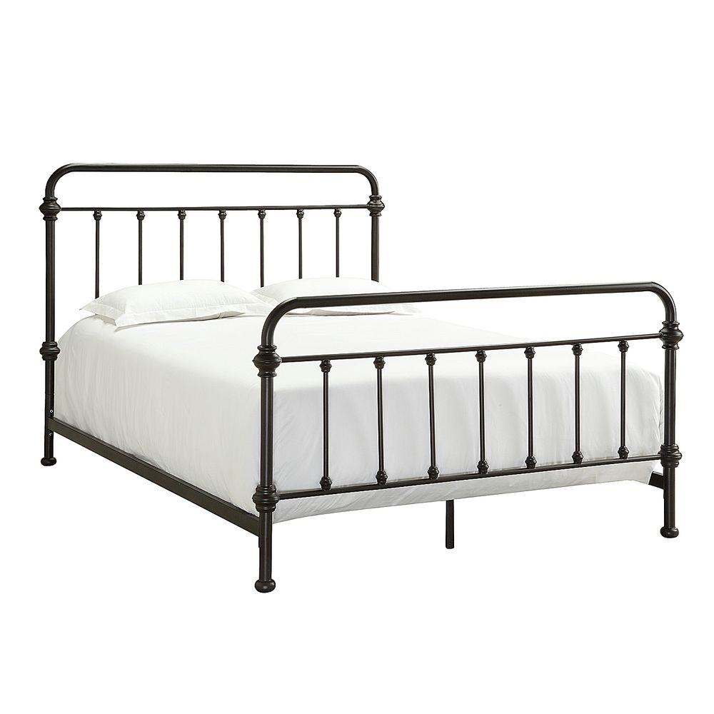Black Metal Queen Bed Part - 38: Calabria Antique Brown Full Bed Frame