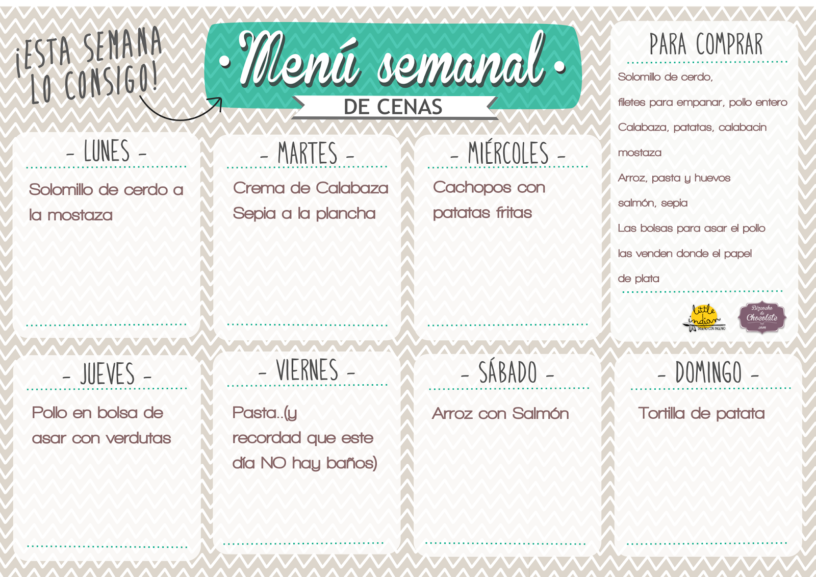 Menu semanal 17 1600 1131 hogares pinterest for Menu semanal verano