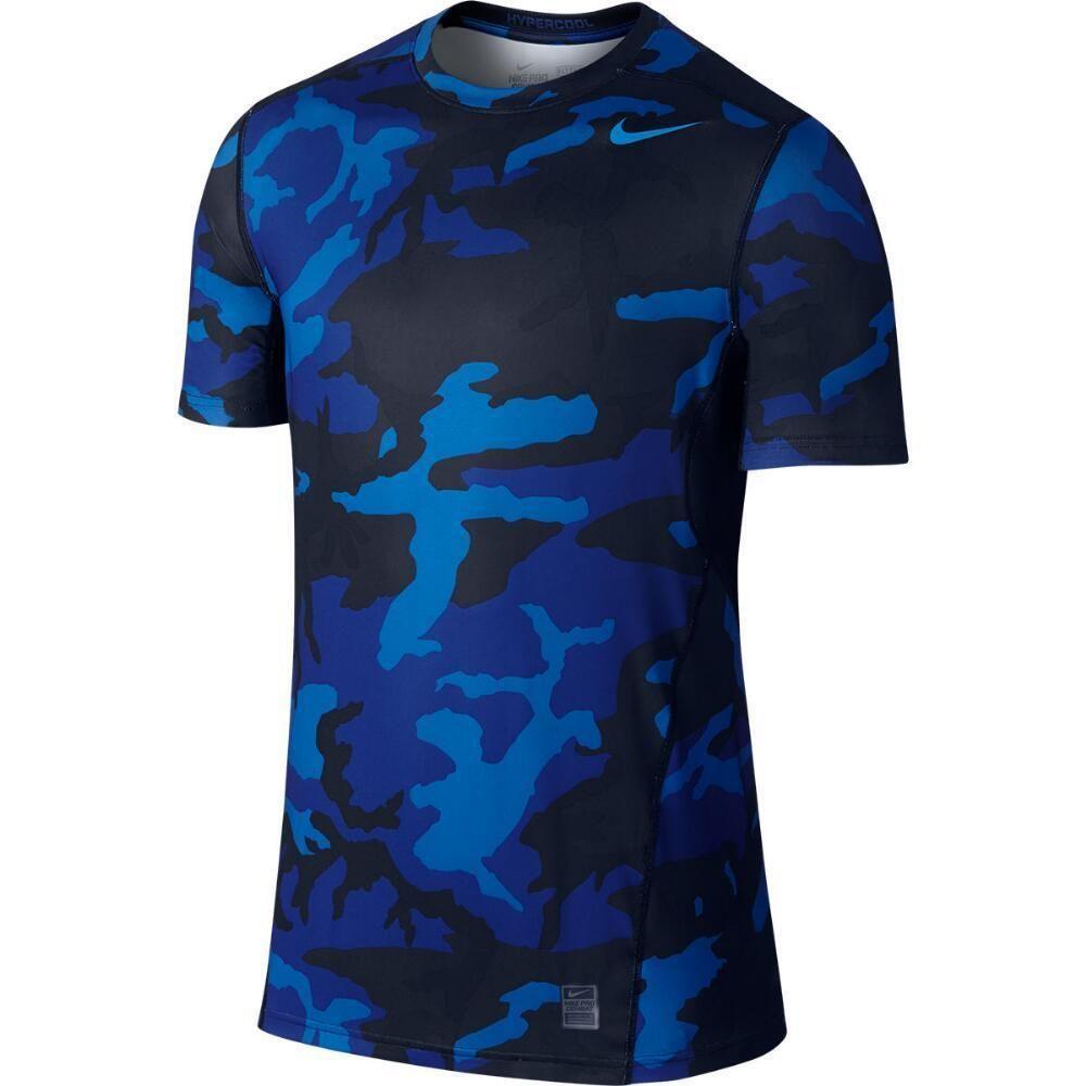 Predownload: Nike Men S Pro Hypercool Woodland Fitted Training Shirt Blue Camo Training Shirts Shirts Blue Shirts [ 1000 x 1000 Pixel ]