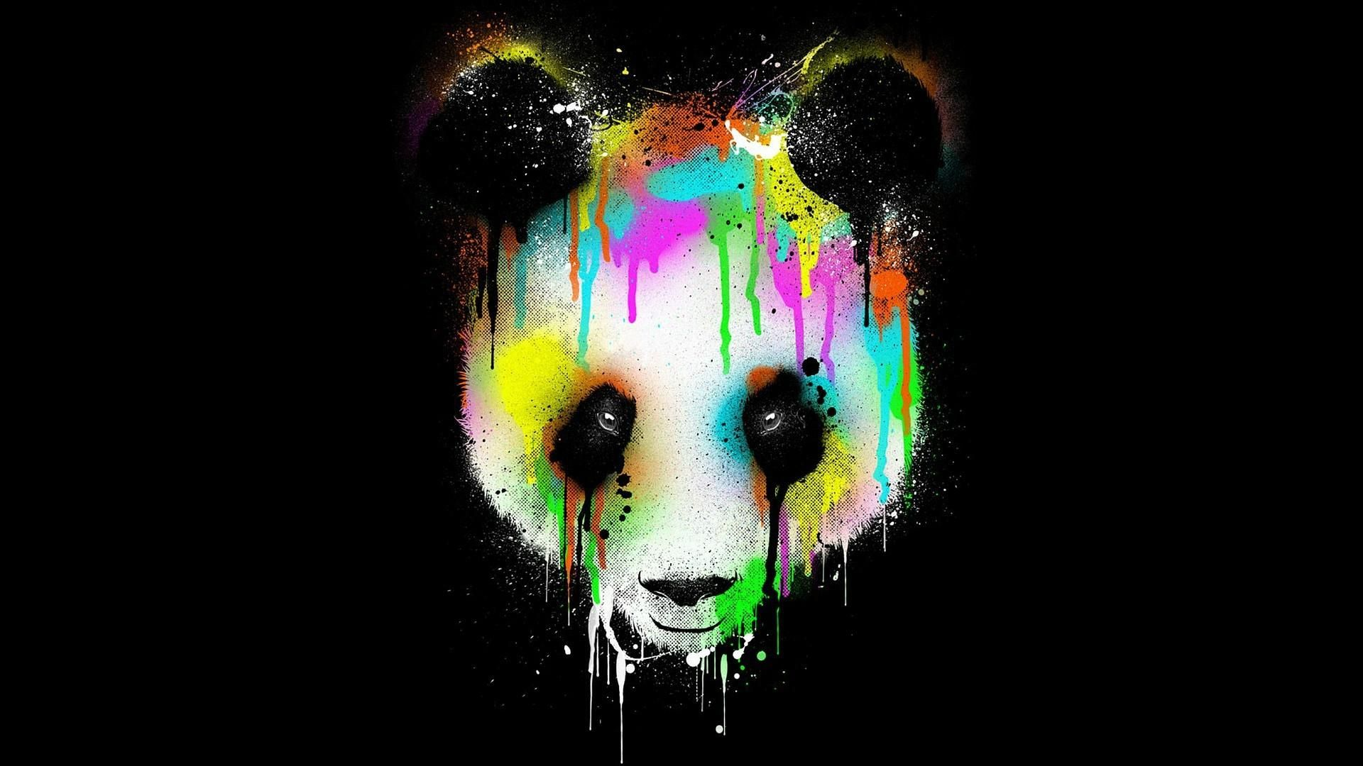 Colorful panda face >> HD Wallpaper, get it now! (With