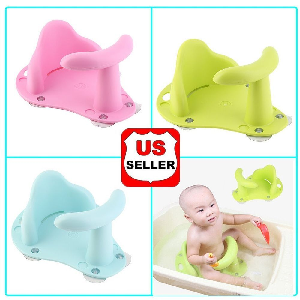 Baby Bath Seat Ring Chair Tub Infant Toddler Bathtub Wash Anti Slip ...