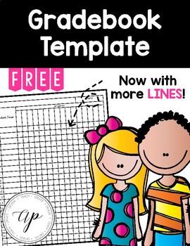 FREE Gradebook Template Grade book template, Grade book