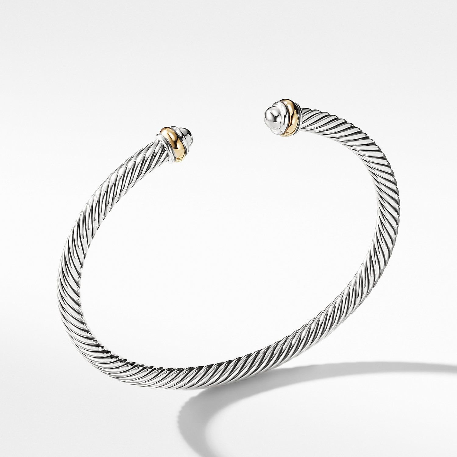 Cable classics bracelet with k gold mm product image
