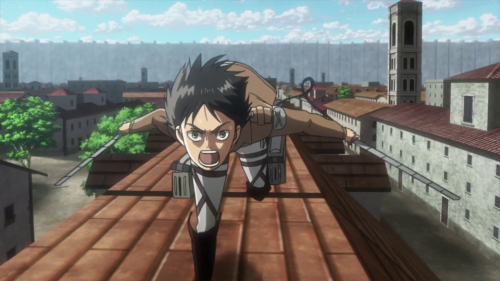 Eren Is Running At A High Speed His Arms Are All The Way Behind His Body Much Like Many Other Anime Characters W Attack On Titan Funny Attack On Titan Titans