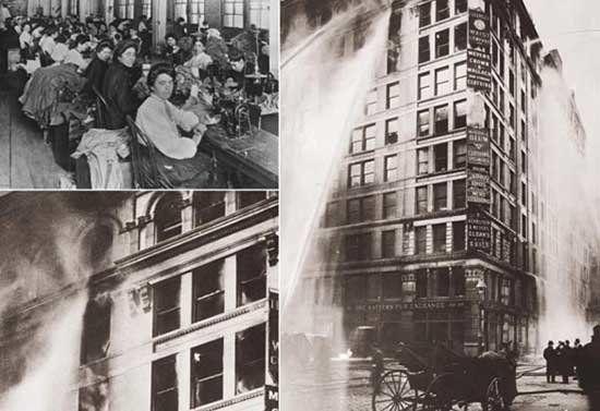 Resultado de imagen para fábrica Triangle de Nueva York