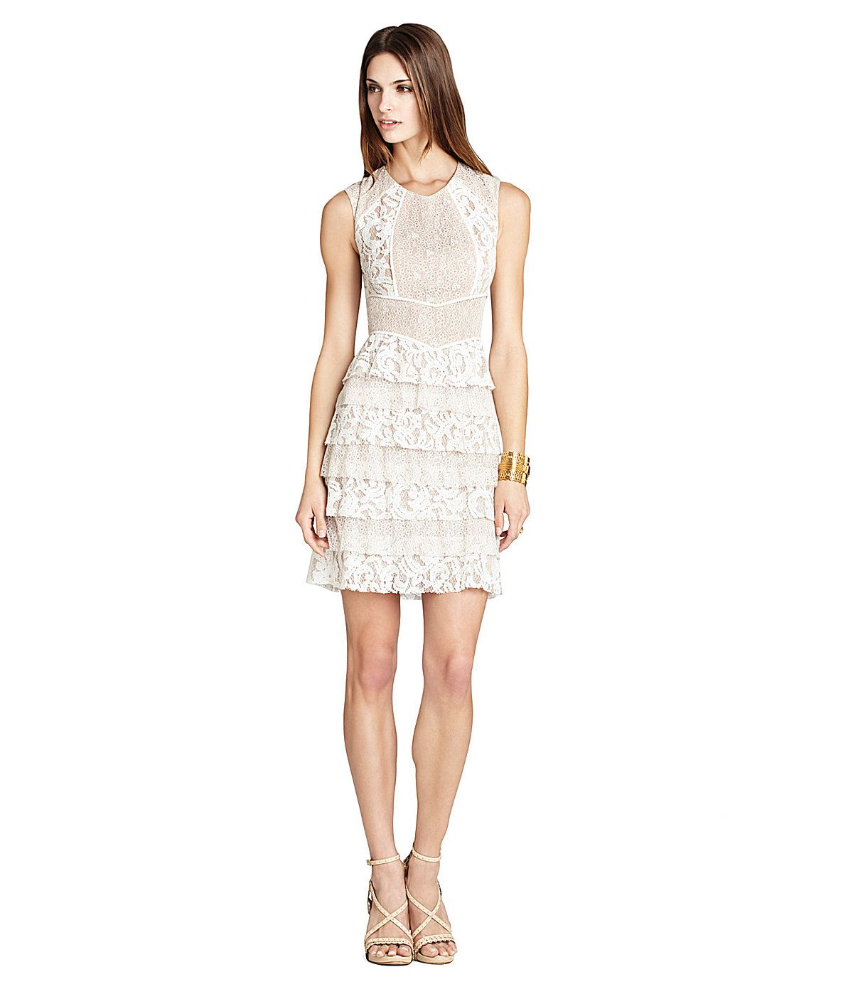 Bcbgmaxazria kayla lace tiered dress dillards wedding