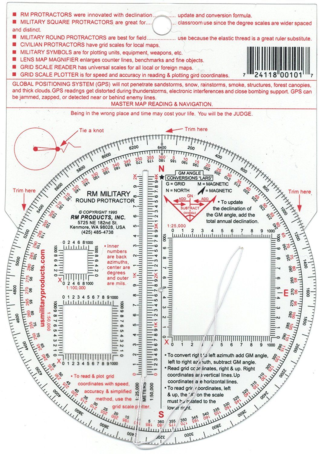 RM PRODUCTS Military Round Protractor * Click image to review more ...