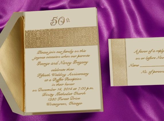 We Print Anniversary Invitations For The 60th Anniversary, 50th   Print  Anniversary Card  Print Anniversary Card
