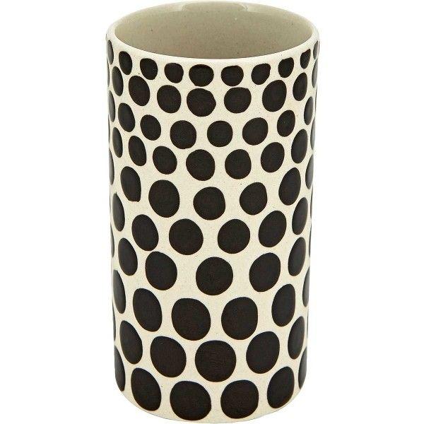 Short Dot Black And White Ceramic Vase 230 Mxn Liked On