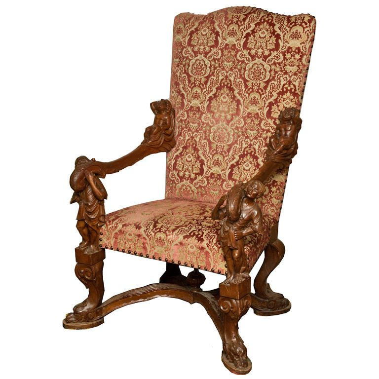 Venetian Baroque Blackamoor Chair by Valentino Besarel