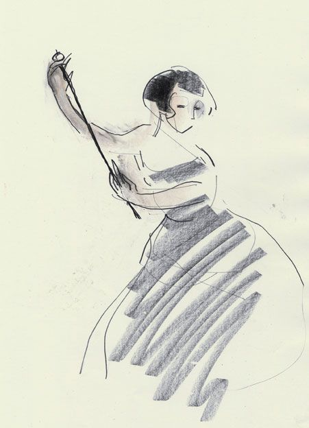 Drawing by Julian Williams   see more here http://www.fluffywhiskers.com/dancers.html