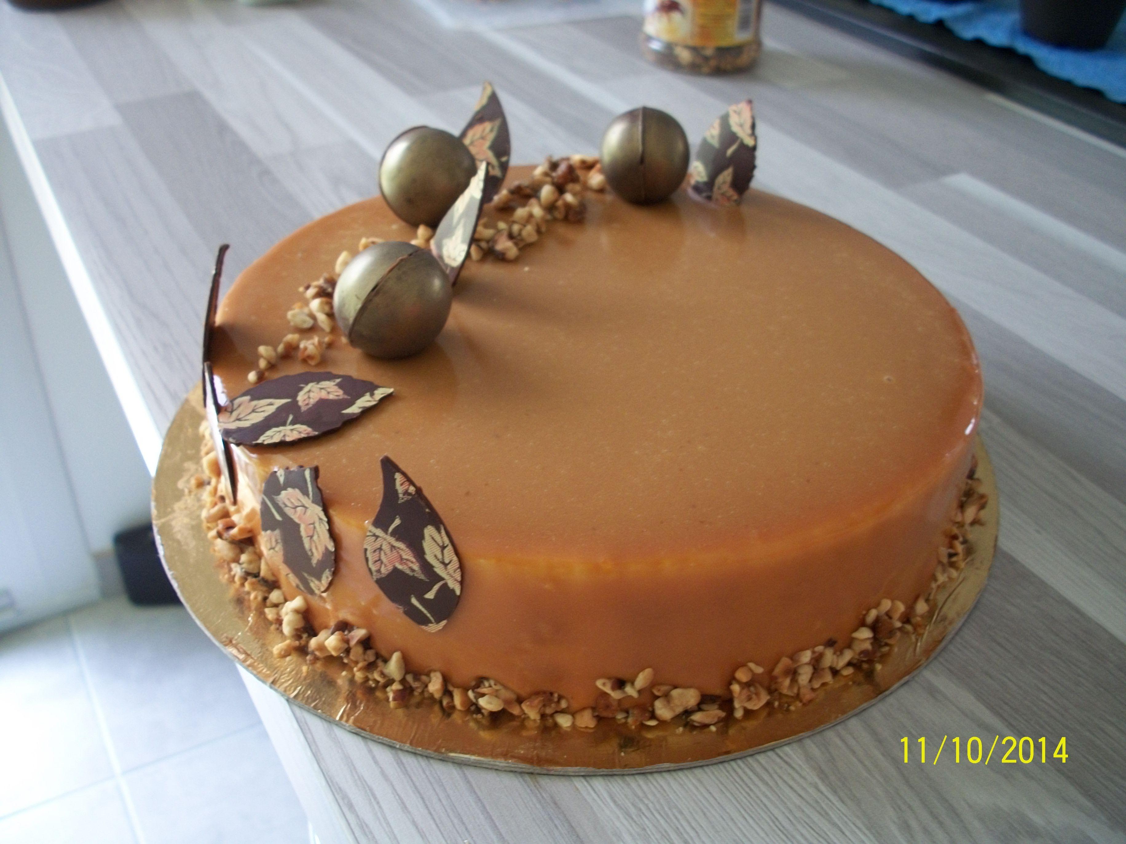 L 39 automnal croustillant riz souffl pralin caramelia for Glacage miroir caramel